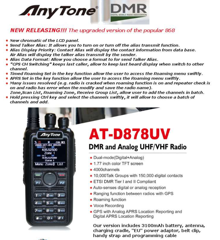 Anytone 878 Software